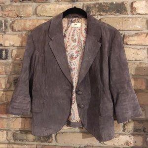 Anthropologie June Suede Jacket Blazer